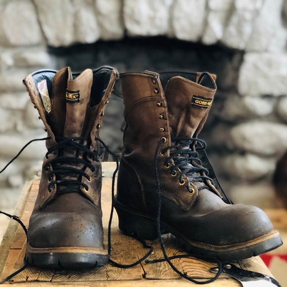 Red Wing Leather Work Boots Steel Toe
